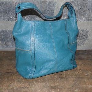 TIGNANELLO turquoise leather hobo bag purse